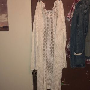 White Stag crochet -like sweater XL 16/18